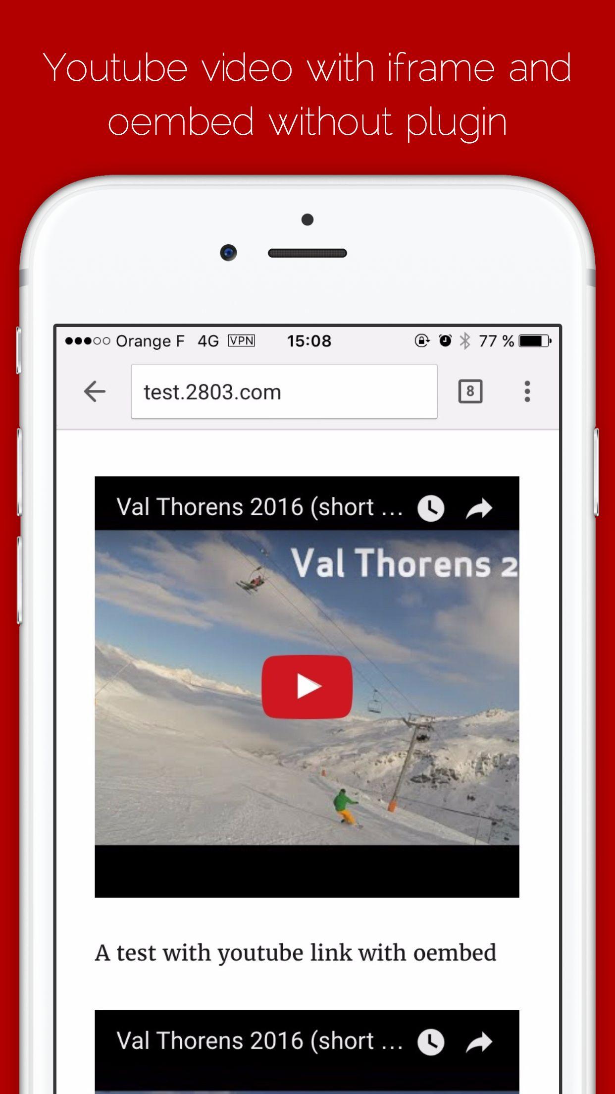 Youtube Responsive Video Player wordpress plugin | 2803